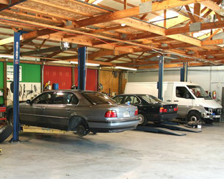 Cars Being Repaired in Our Shop